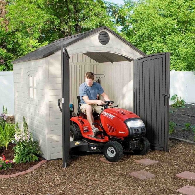 Lifetime Plastic Apex Roof Shed 8X7.5