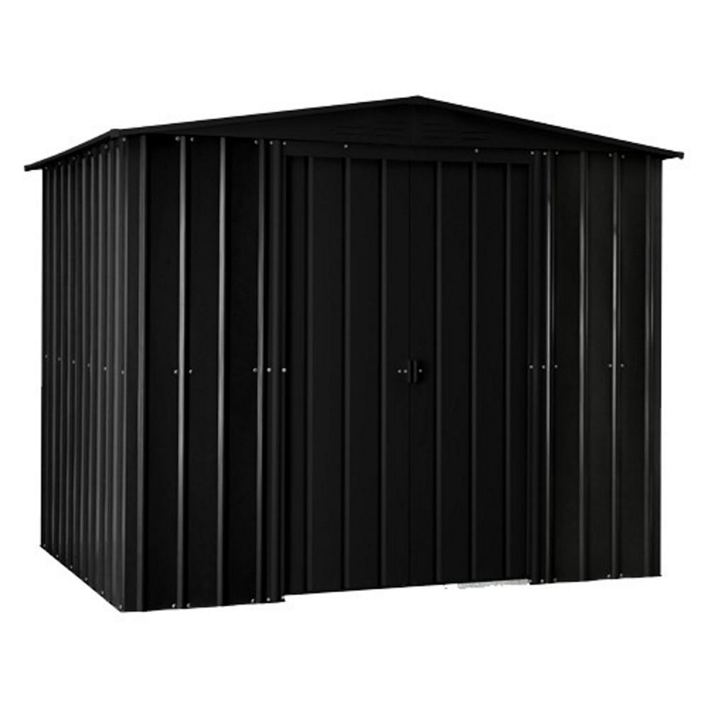 Lotus metal apex shed 8x5 garden street for Garden shed 8x5