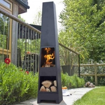 Malmo Chimenea With Log Store