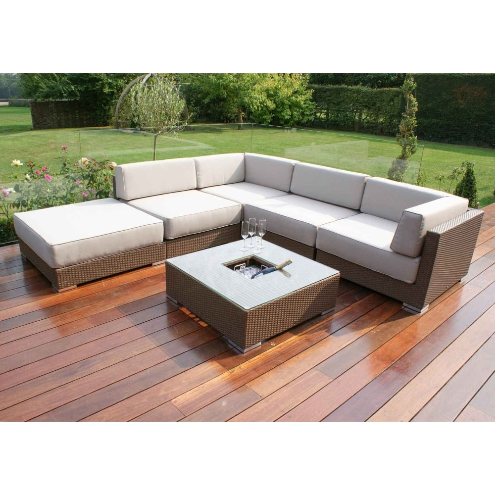 Corner Sofa Set For Garden: Maze Rattan Monaco Corner Sofa Set
