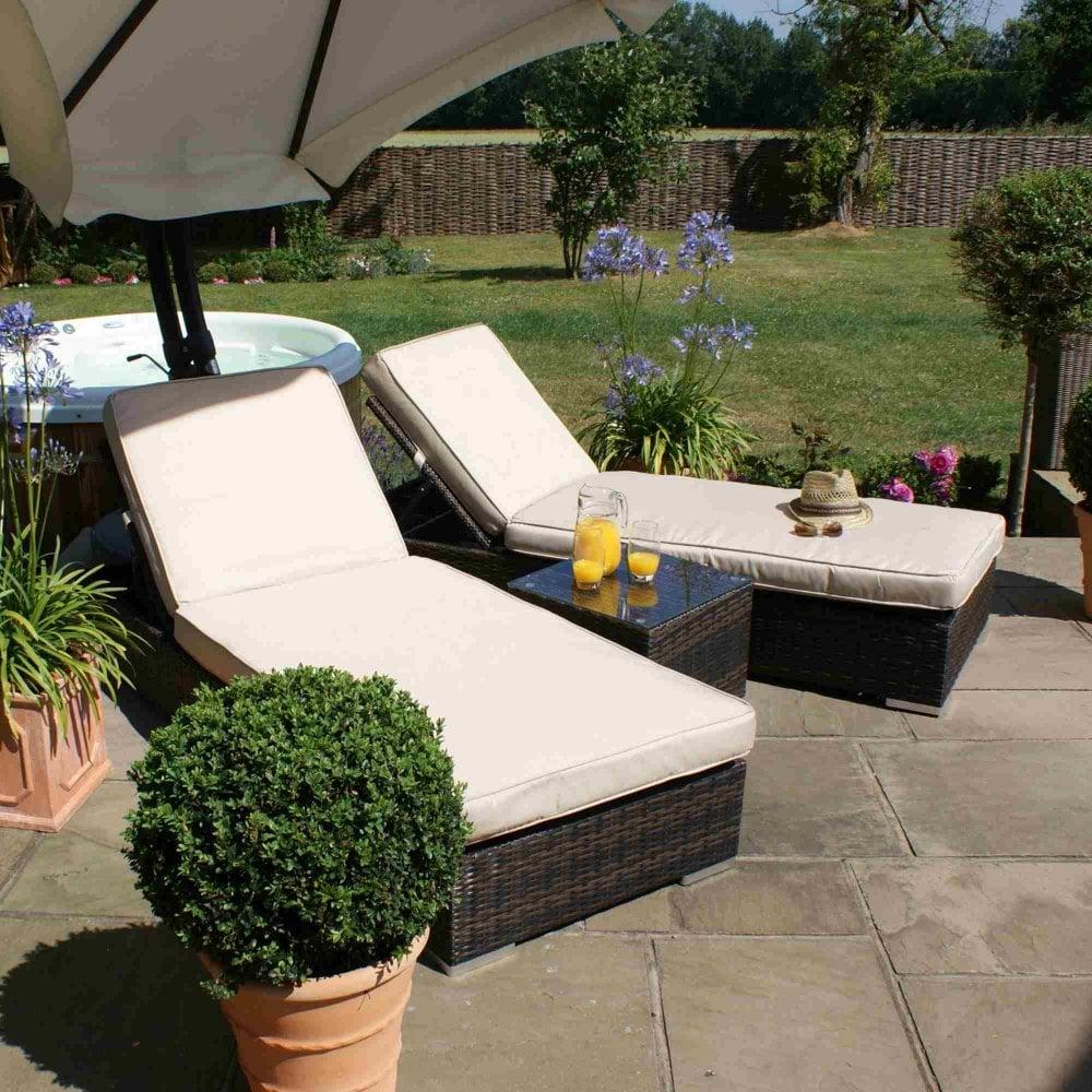 Maze Rattan Orlando Sun Lounger Set | Garden Street