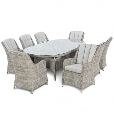 Oxford 8 Seat Oval Dining Set with Venice Chairs