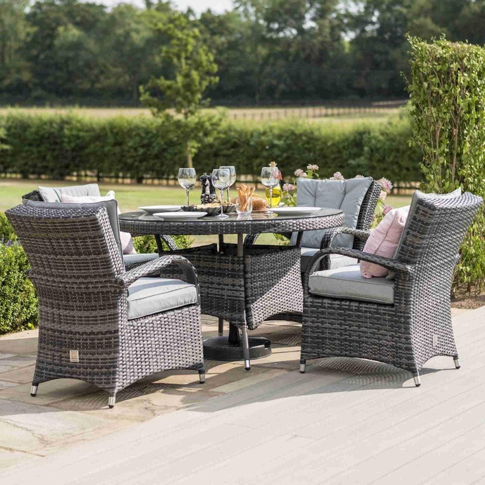 d3fe3d0a9ef0 Maze Rattan Texas 8 Seat Round Dining Set | Garden Street