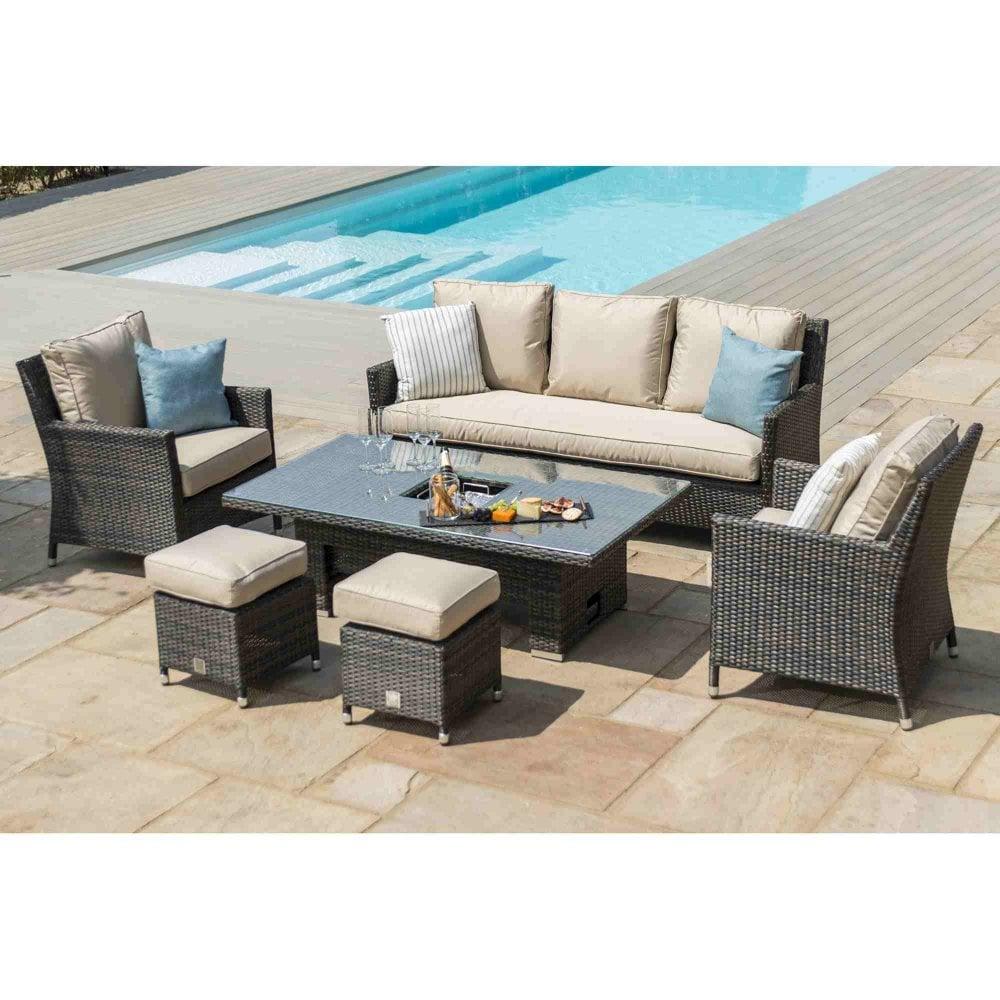 Peachy Venice Sofa Dining Set With Ice Bucket Rising Table Inzonedesignstudio Interior Chair Design Inzonedesignstudiocom