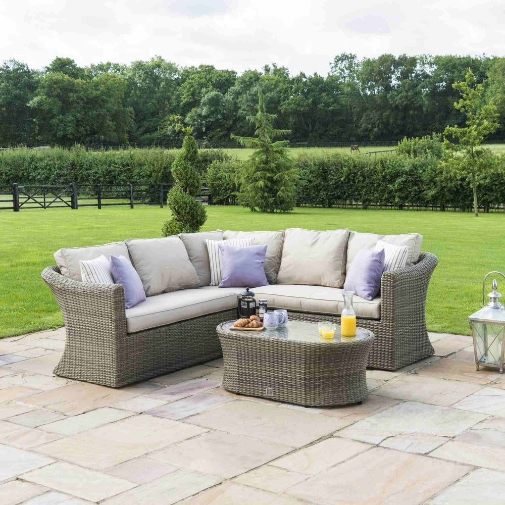 Small Corner Sofa No Arms: Maze Rattan Winchester Small Corner Sofa Set