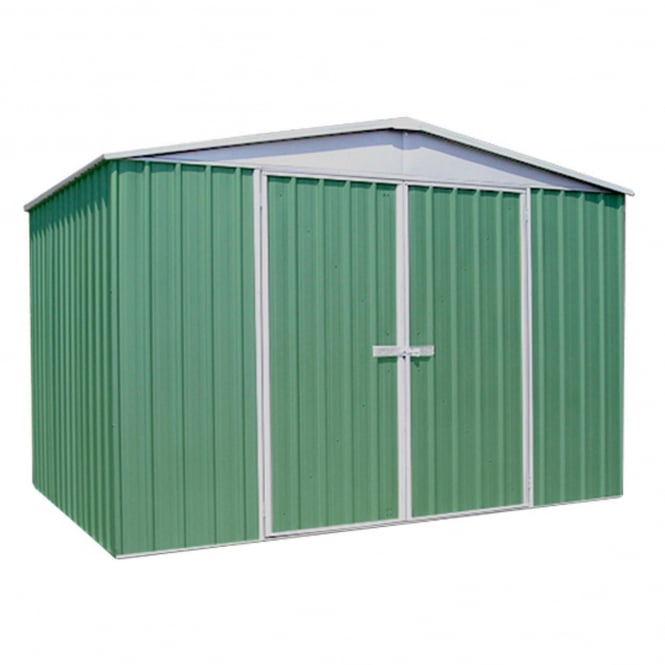 Mercia Absco Space Saver Pale Eucalyptus Metal Shed 10X12