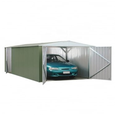 Absco Space Saver Pale Eucalyptus Metal Shed 10X20