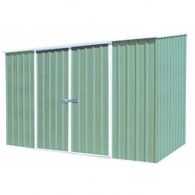 Mercia Absco Space Saver Pale Eucalyptus Metal Shed 10X5