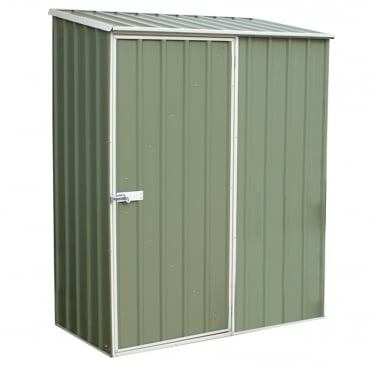 Absco Space Saver Pale Eucalyptus Metal Shed 5X3