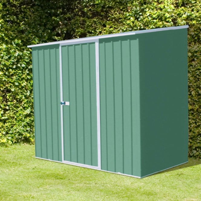 Mercia Absco Space Saver Pale Eucalyptus Metal Shed 7X3