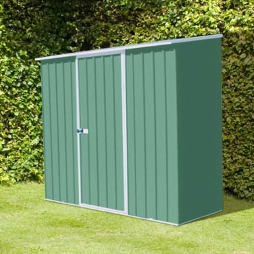 Absco Space Saver Pale Eucalyptus Metal Shed 7X5