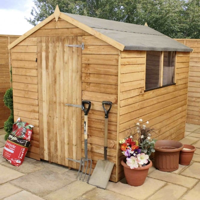 Mercia Budget Overlap Apex Shed 8X6