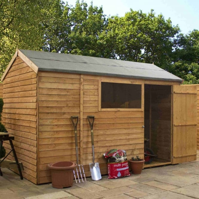 Mercia Overlap Reverse Apex Shed 10X6