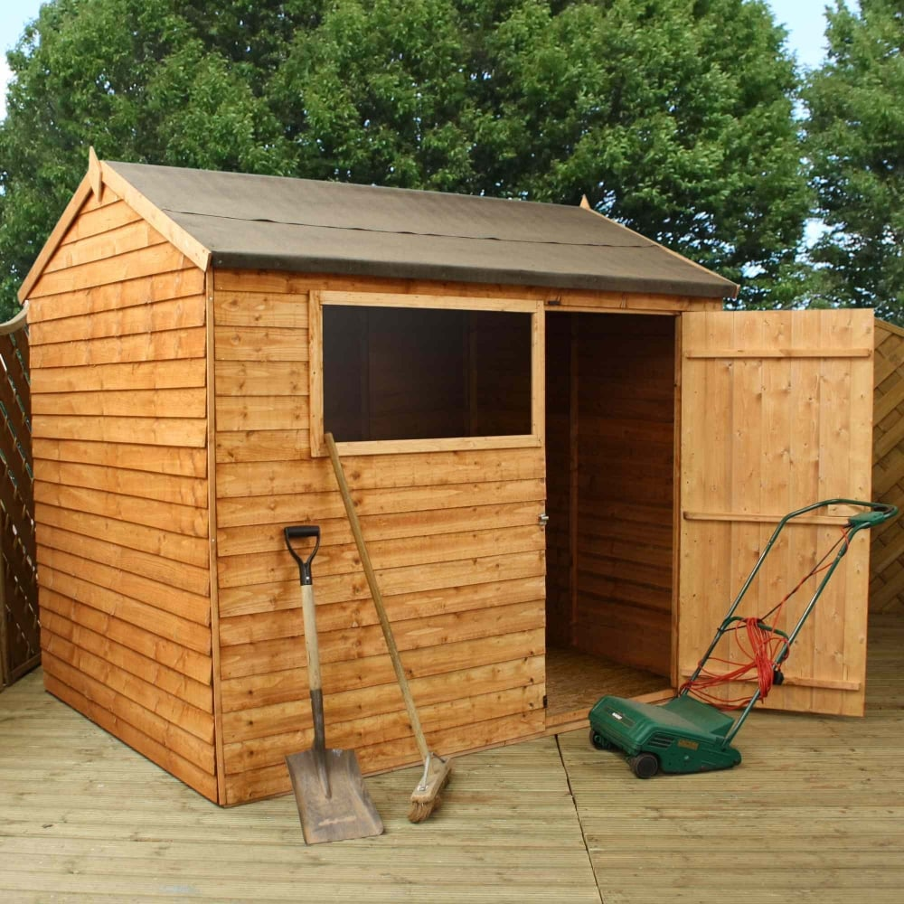 Home Gym In Shed: Mercia Overlap Reverse Apex Shed 8X6