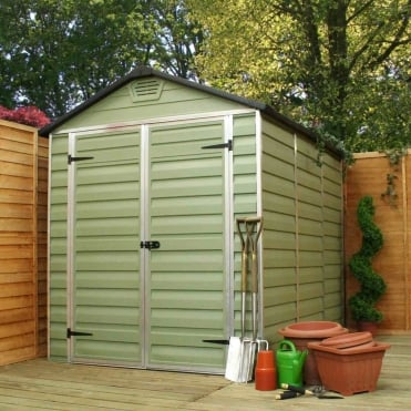 Palram SkyLight Plastic Green Apex Shed 6X8