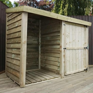 Pressure Treated Overlap Storage Unit 3X7
