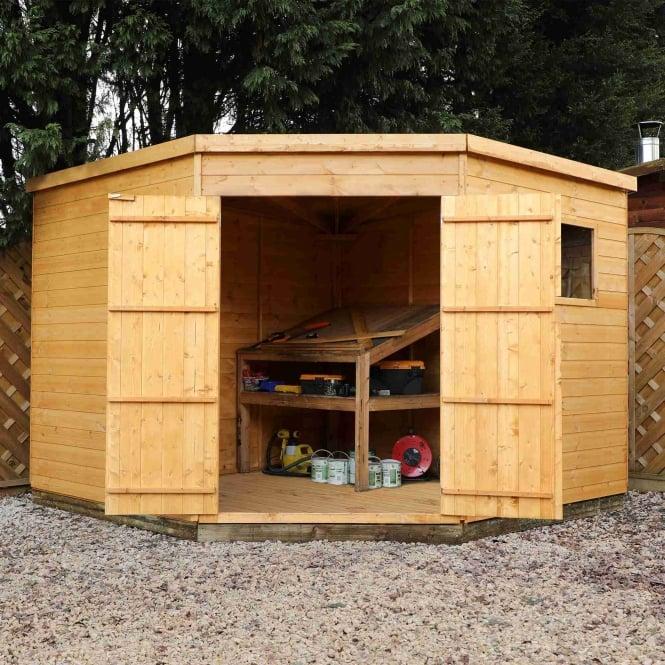 9x9 Bedroom: Mercia Shiplap Corner Shed 9x9