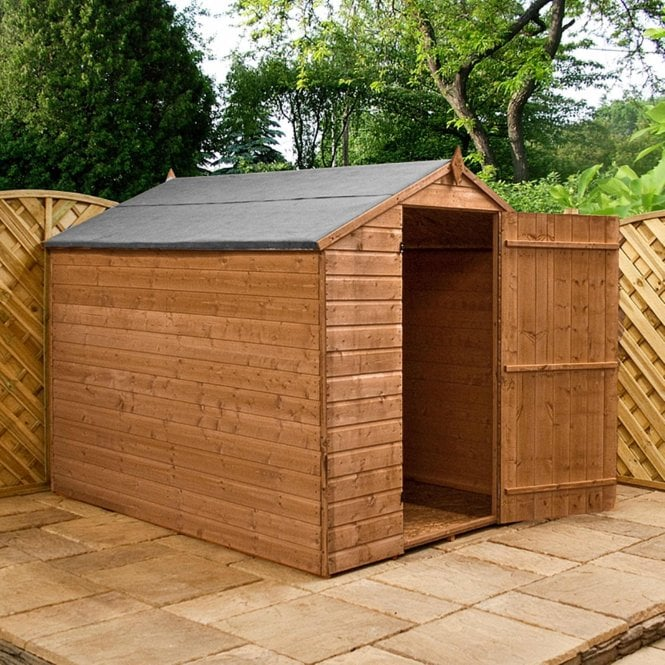 Mercia Shiplap OSB Apex Shed Windowless 8X6