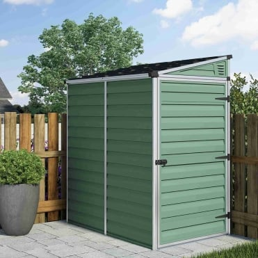 Skylight Green Pent Shed 4X6