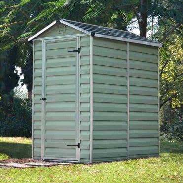 SkyLight Plastic Green Apex Shed 4X6