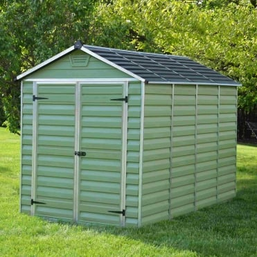 SkyLight Plastic Green Apex Shed 6X10