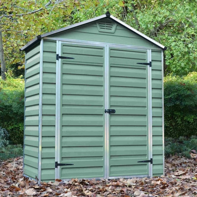 Mercia SkyLight Plastic Green Apex Shed 6X3