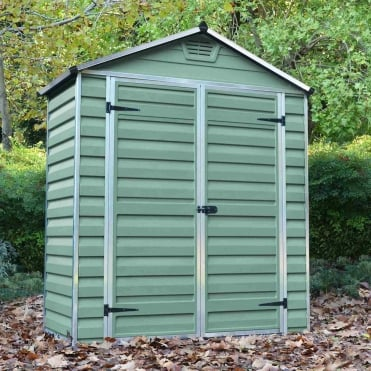 SkyLight Plastic Green Apex Shed 6X3