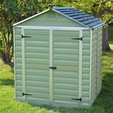 SkyLight Plastic Green Apex Shed 6X5
