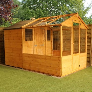 Traditional Apex Combined Greenhouse Shed 10X6