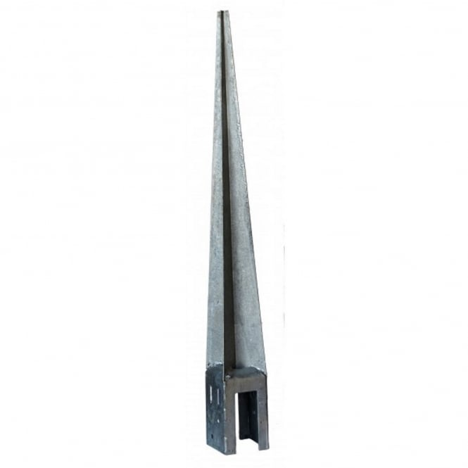 Metpost 93mm Sq. Galvanised Wedge Grip Spike H Post Support