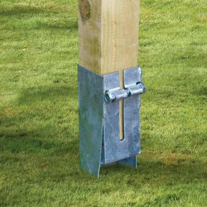 Metpost 95mm Sq. Galvanised Spike Pergola Anchor
