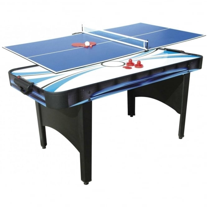 Mightymast 6ft Typhoon 2-In-1 Air Hockey / Table Tennis Table
