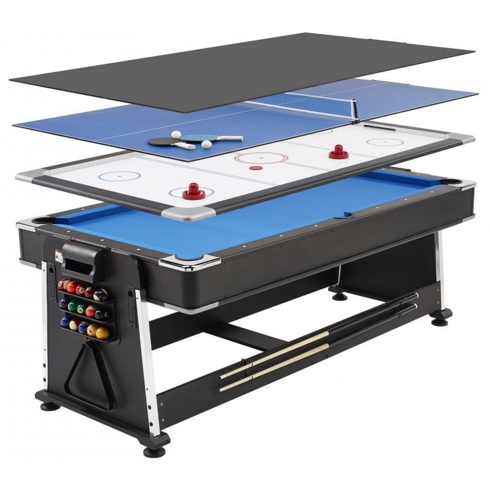 7ft REVOLVER 3 in 1 Pool Air Hockey Table Tennis Game