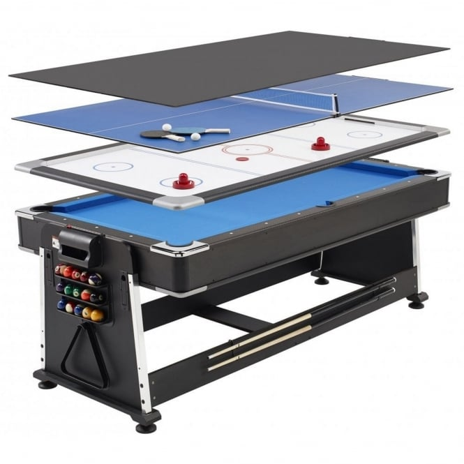 Mightymast 7ft Revolver 3-in-1 Pool / Table Tennis / Air Hockey Table