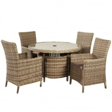 Modena Round 4 Seater Dining Set