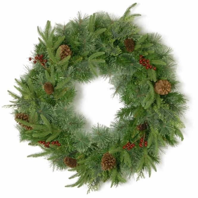 National Tree Company Cleveland Fir Feel-Real® Artificial Wreath 24
