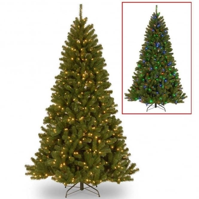 National Tree Company North Valley Artificial Christmas Tree with LED Lights