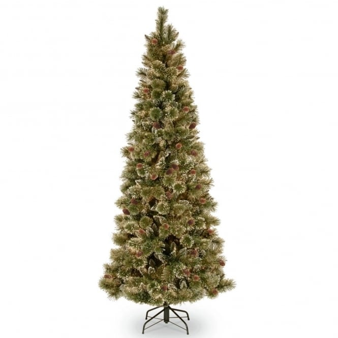 National Tree Company Sparkling Pine Slim Hinged Artificial Christmas Tree