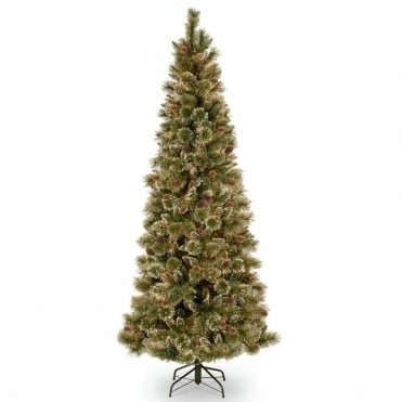 Sparkling Pine Slim Hinged Artificial Christmas Tree