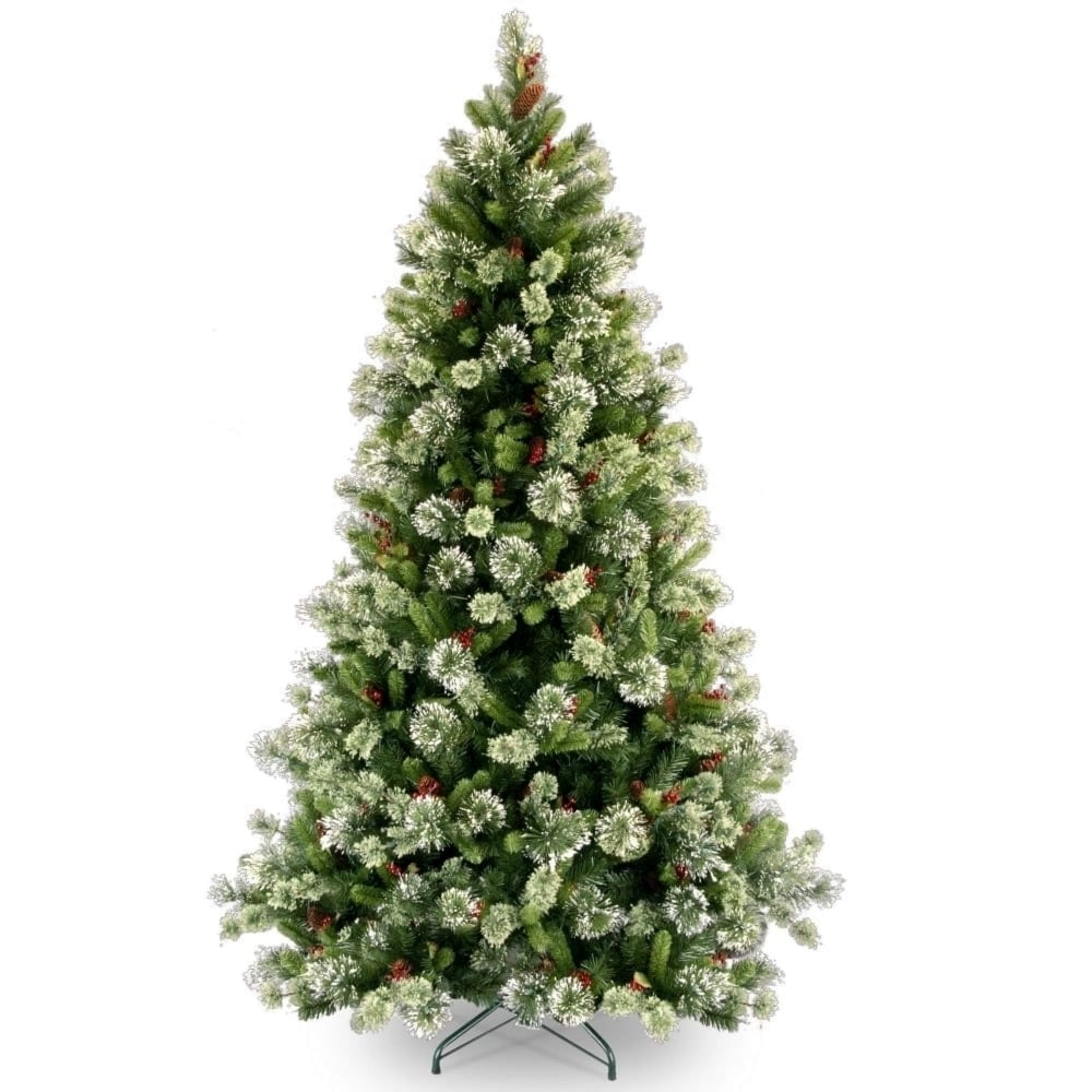 """Christmas Tree In Garden: Woodbury Pine 7ft 6"""" Hinged Artificial Christmas Tree"""