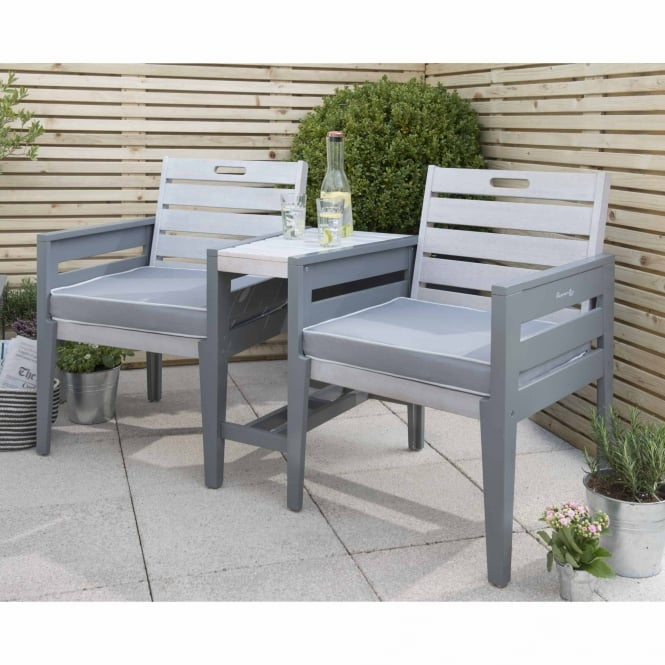 Norfolk Leisure Florenity Grigio Tete a Tete Bench