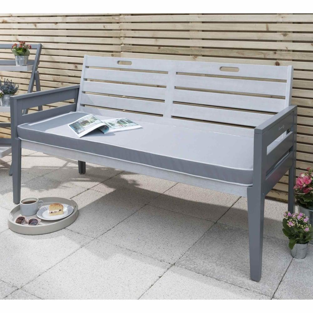 Norfolk Leisure Florenity Grigio Three Seat Bench Garden