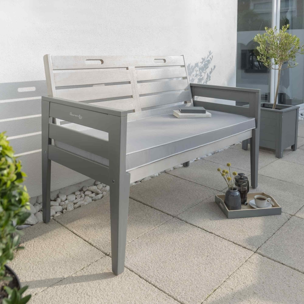 Norfolk Leisure Florenity Grigio Two Seat Bench Garden