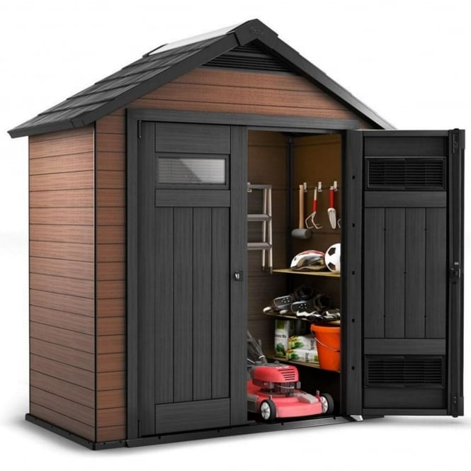 Norfolk Leisure Fusion Plastic Apex Shed 7X4
