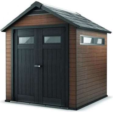 Fusion Plastic Apex Shed 7X7