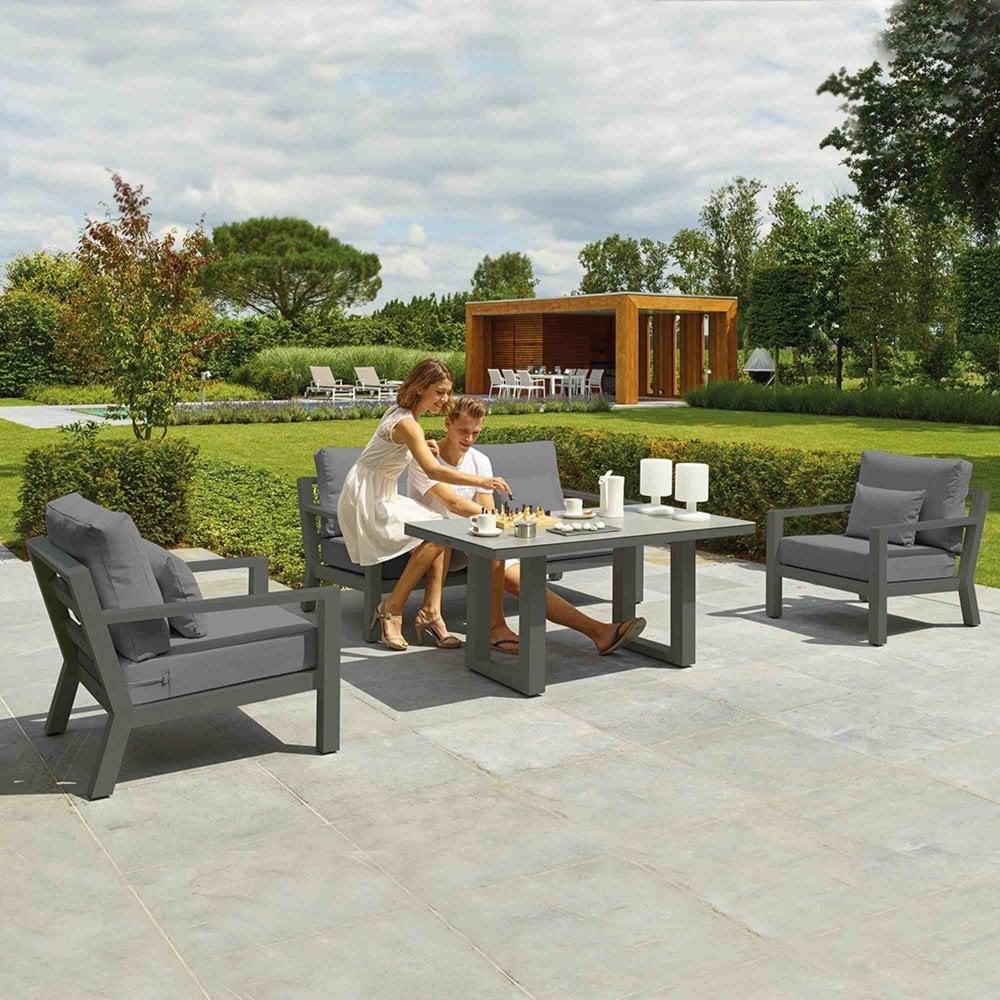 Timber lava sofa set