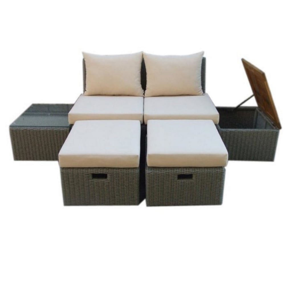 Norfolk leisure trinidad lounge set garden street for Lounge garden furniture sets