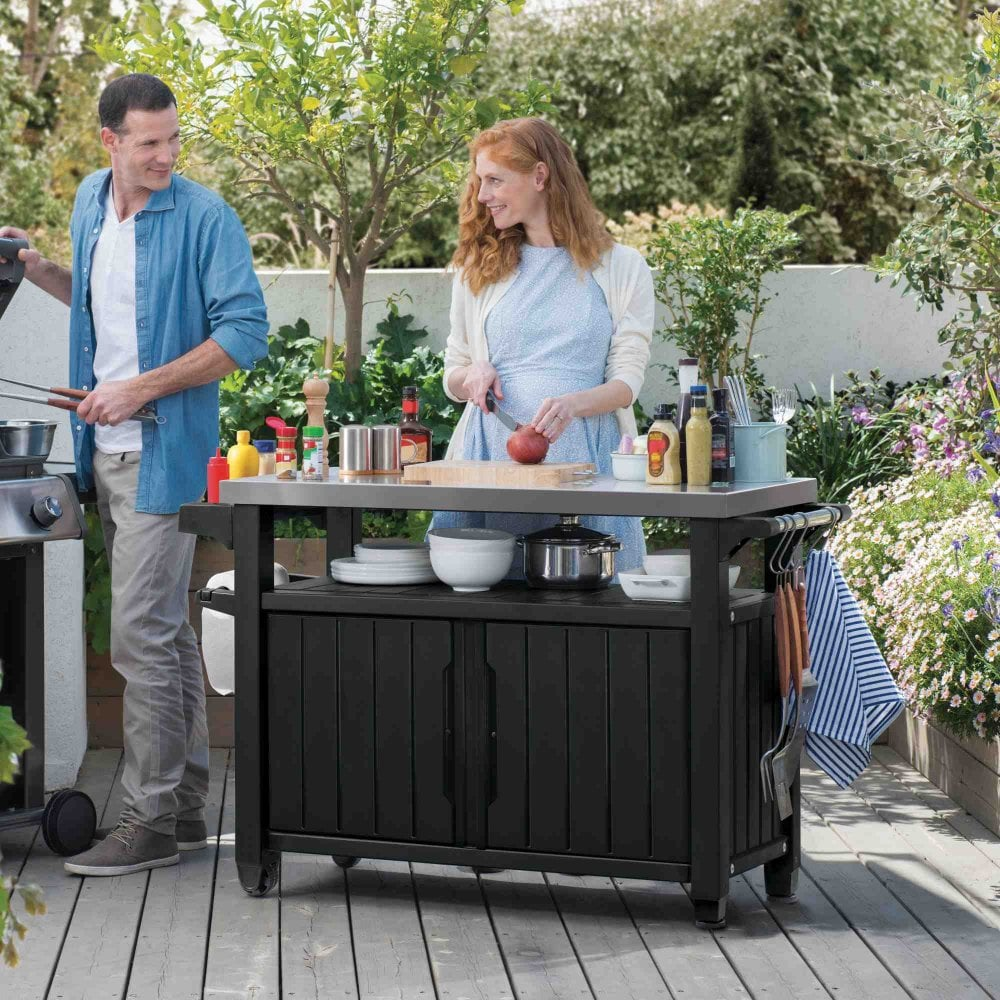 Norfolk Leisure Unity Double Bbq Table Garden Street