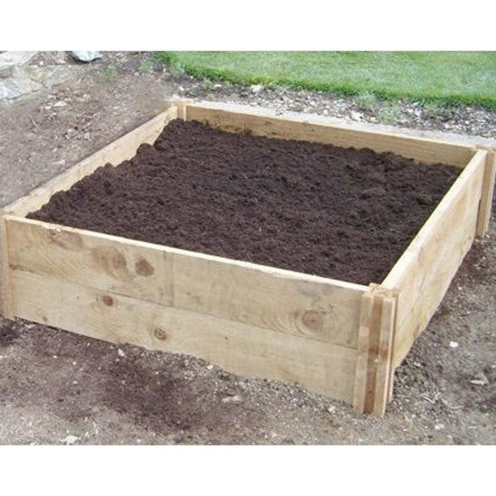 Original organics deep single raised bed garden street for How deep should a raised vegetable garden be