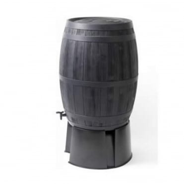 Oak Wood Barrel Effect Water Butt 235 Litres